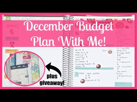 December 2018 Budget Plan With Me! + GIVEAWAY! thumbnail