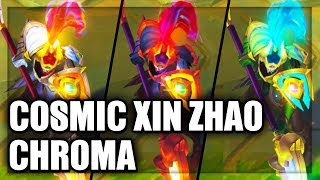 All Cosmic Defender Xin Zhao Chroma Skins Spotlight (League of Legends)