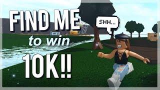 PREMIER PERSON TO FIND ME WINS 10K! Défi ROBLOX de Bloxburg