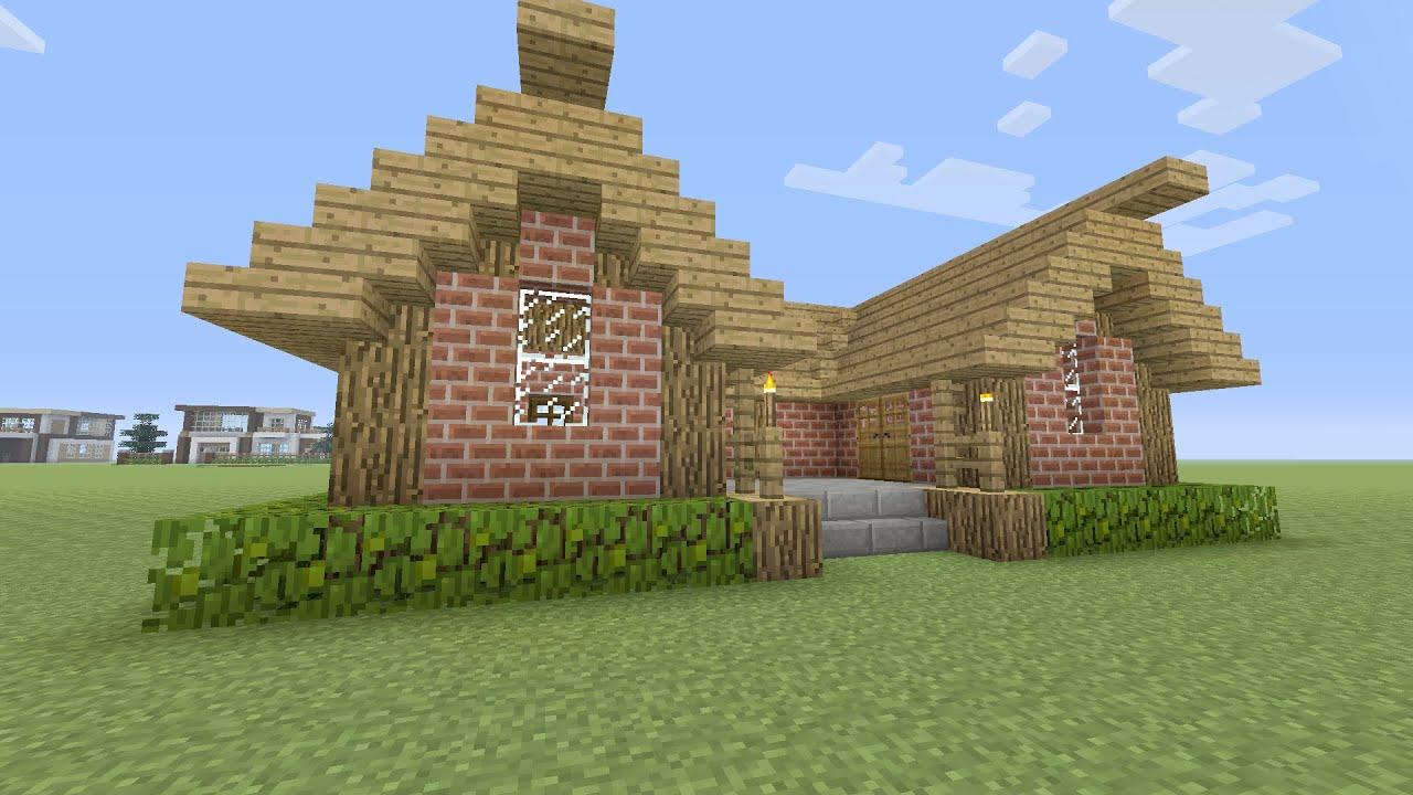 Minecraft een huis bouwen 1 youtube for Kleine huizen bouwen