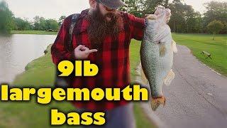 Friday Fishing: Giant 9lb Largemouth Bass!