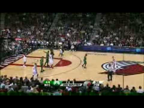 Blazers with 6 players on the court against Celtics [TV BROADCAST]