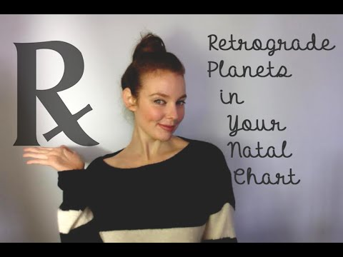 Retrograde Planets In Your Natal Chart Youtube