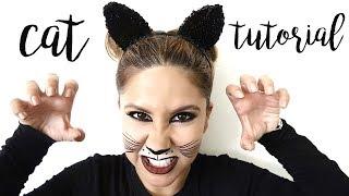 Halloween Makeup Tutorial: Easy Cat Look