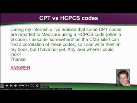 CPT vs. HCPCS Codes Medical Coding