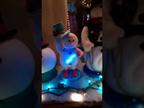 Mini Blue hat snowman.
