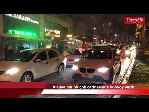 Seçim Zaferini Alanya Caddelerinde Kutladılar