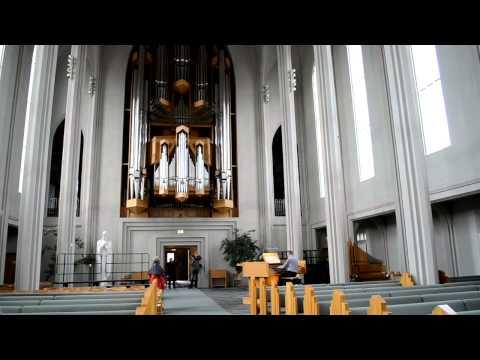 Large Pipe Organ in Hallgrímskirkja Church - Reykjavik, Iceland