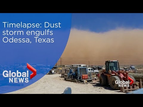 Timelapse video shows Odessa, Texas engulfed by dust storm