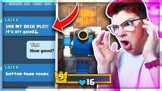 I TRIED MY SUBSCRIBERS DECK and THIS HAPPENED NEXT... | Clash Royale