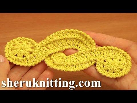 Crochet Freeform Motif Tutorial 16 Irish/Guipure Crochet Motif Free Pattern