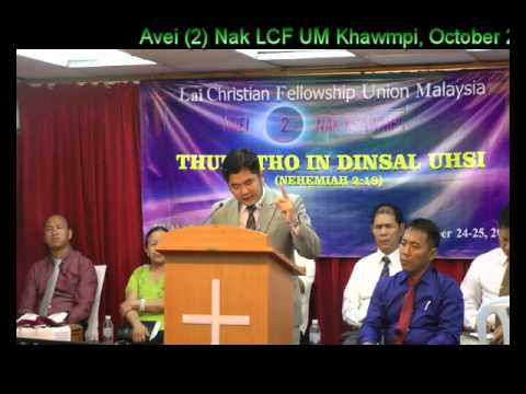 Rev  Joel Lalcungmang, Thupi: Tho In Dinsal Uhsi, )ctober 25, 2015, LCF, MLS