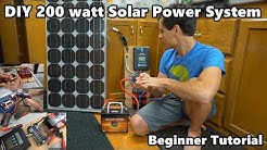 "DIY 200 Watt 12 volt Solar Power System ""The Minimalist"" Beginner Tutorial"