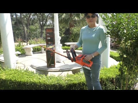 Black & Decker Cordless Hedge Trimmer Demonstration &  Review