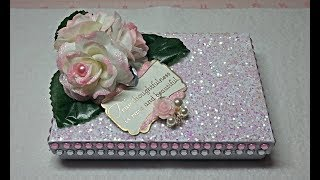 Diy~beautiful & Sparkly Gift Card Box W/ Easy Angel Earrings! Made From D.t. Materials!