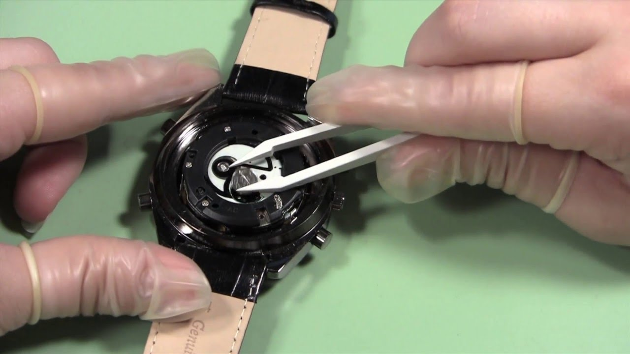 How to Replace 2 Stacked Watch Batteries - YouTube