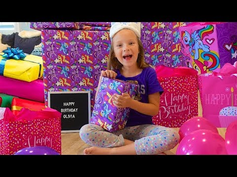 7 YEAR OLD BIRTHDAY PRESENTS And MY LITTLE PONY POOL PARTY