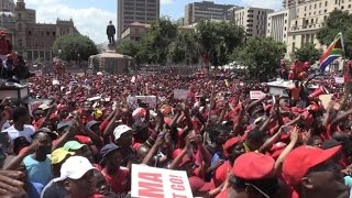 Anti-Zuma demonstration in Pretoria ahead of corruption report