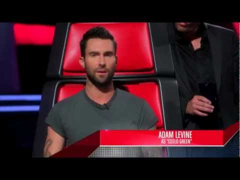 Adam Levine imitates the coaches - The Voice