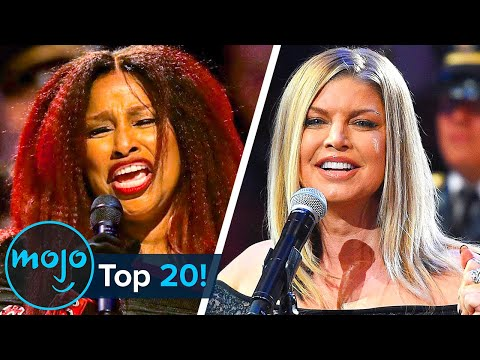 Top 20 American National Anthem Performance Fails