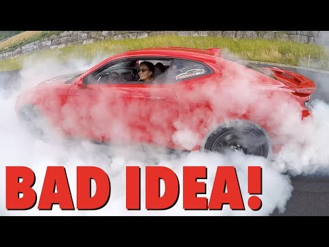 Thumbnail: Teaching My Girlfriend How To Do A BURNOUT!! I Can't Believe What Happens...