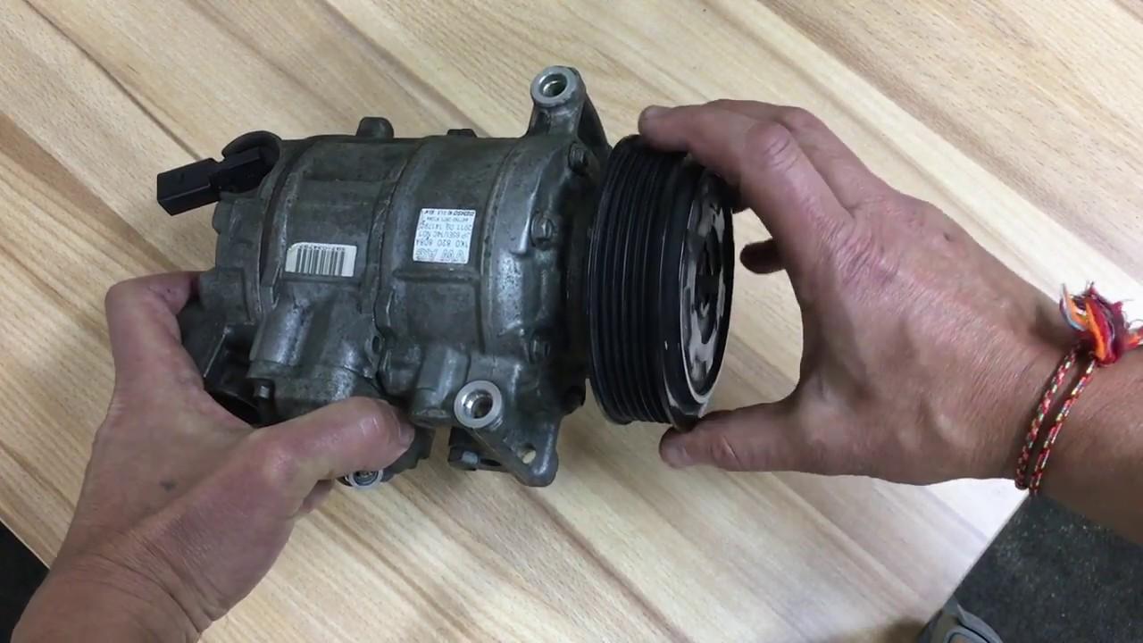 Если заклинил компрессор кондиционера постоянного вращения.