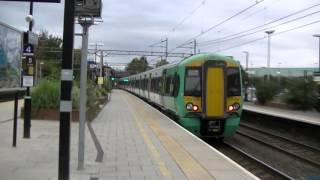 377704 departs Watford Junction for Milton Keynes Central