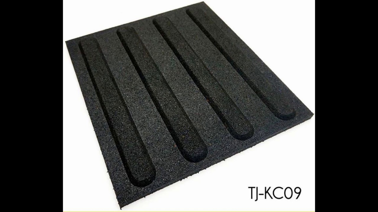 Black Outdoor Rubber Floor Tiles Walkway Pavers Supplier Youtube