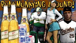 Getting DRUNK and Playing PS2 Sports Games | PunkMunkying Around