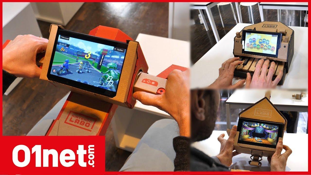 Nintendo Labo  découvrez la magie des accessoires en carton de la Switch