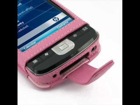 PDair Leather Case for HP iPAQ 200 210 211 212 214 Series - Flip Type (Petal Pink)