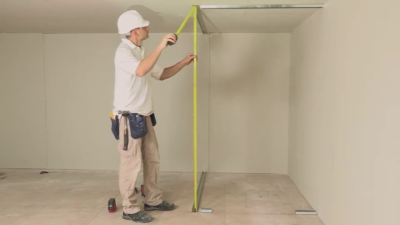 How to install a stud wall with insulation and access ...