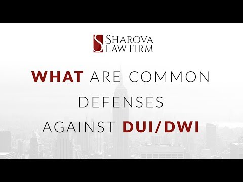 What are some common defenses against DWI DUI charges Lawyer Answer