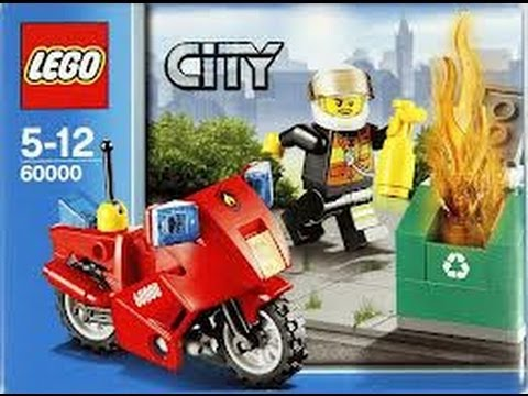 lego fire motorcycle set 60000 review youtube. Black Bedroom Furniture Sets. Home Design Ideas