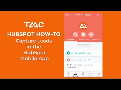 How To Capture Tradshow Leads With The HubSpot Mobile App