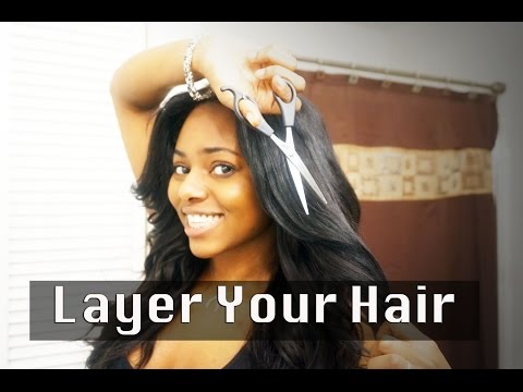 How To Layer Your Own Hair! Stephaniestylezz