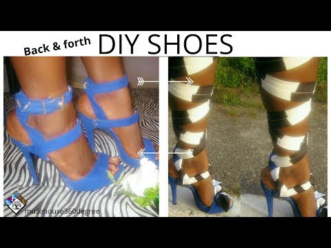 DIY  SHOES  HACKS | Transform 1 heel to 2