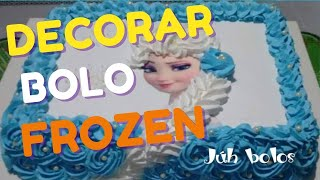 Como decorar bolo Elsa Frozen (trança  em Chantilly)