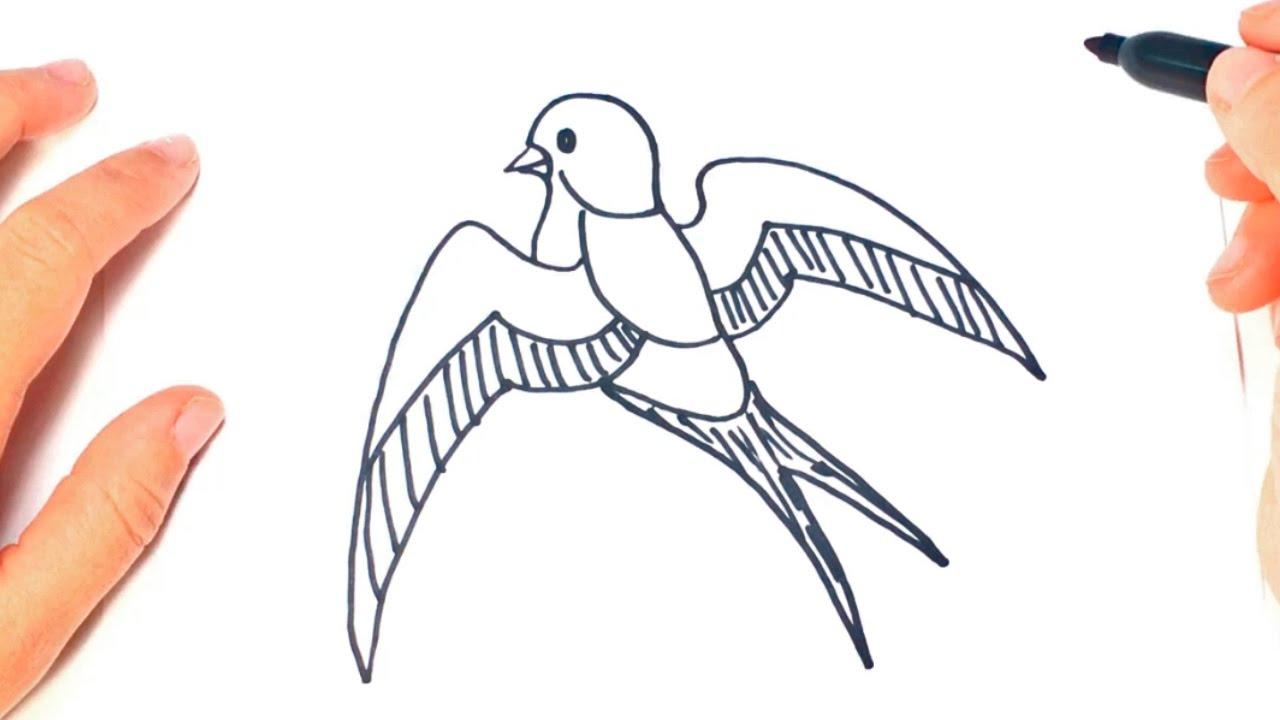 Como dibujar un golondrina paso a paso dibujo facil de for Comedor facil de dibujar