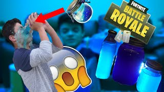 Real LIFE FORTNITE /CHUG JUG,SLURP JUICE,SHIELD POTION (RÉSULTATS INSANE)
