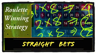 Straight bets : Sure profit Roulette winning trick : online casino games