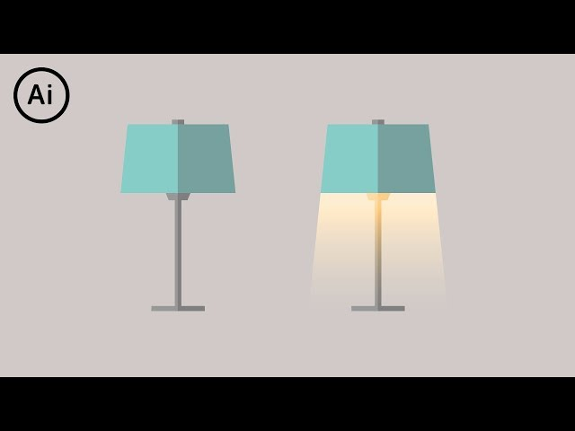 Flat Design Lamp | Illustrator Tutorial