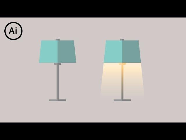 Flat Design Lamp | Illustrator Tutorial