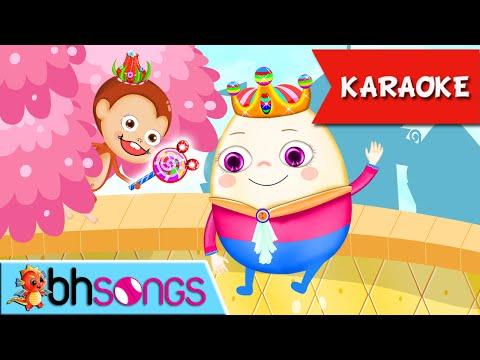 Humpty Dumpty Karaoke Lyrics | Music For Kids | Ultra HD 4K Video Songs