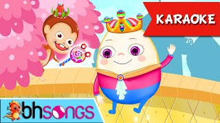Humpty Dumpty Karaoke Lyrics | Music For Kids | Ultra HD 4K Video Songs