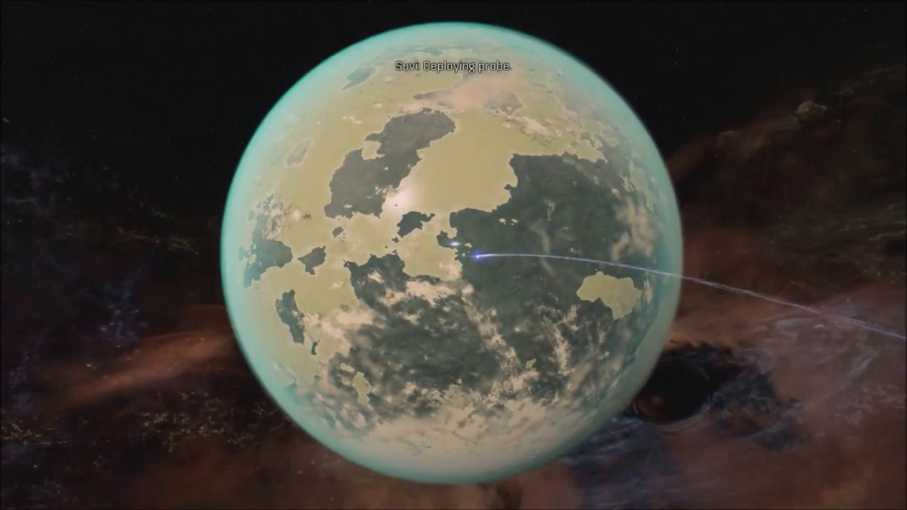 mass effect: andromeda planet scan - YouTube