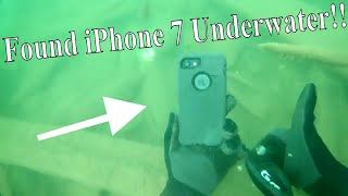 Found an iPhone 7 Underwater While Searching for Lake Treasure!