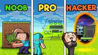 Invisible HIDDEN House! (Noob vs Pro vs Hacker)