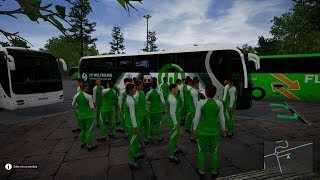 VfL Wolfsburgo visita al Hertha BSC en Berlin | Football Team Bus DLC | Fernbus Simulator