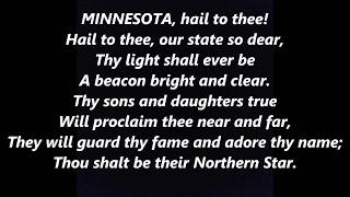 Hail MINNESOTA OFFICIAL STATE Song ANTHEM LYRICS WORDS BEST TOP POPULAR UNIVERSITY SING ALONG